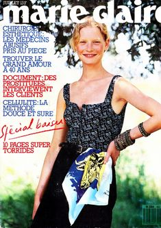 Kirsten Owen shot by Sasha covers Marie Claire France July 1989