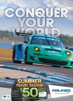Falken Tire Automobile Magazine Ad Conquer Your World