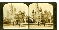 """""""Luxmivilas Palace, magnificent Residence of Prince of Baroda,"""" a stereoscopic view by H. C. White, 1901."""