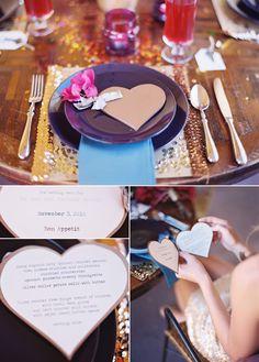 QUIERO UNA BODA PERFECTA: Minutas de tu boda en forma de corazón