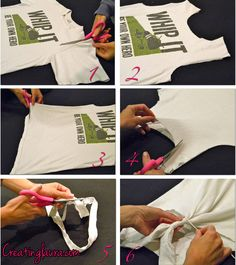 Creating Laura: No-Sew T-Shirt to Tank Top Project. Done and done