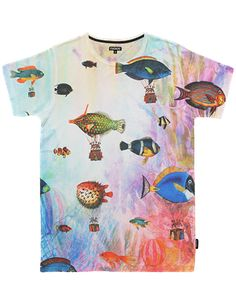 Fish as...hot-water-balloons? - Underwater Love - T-Shirt