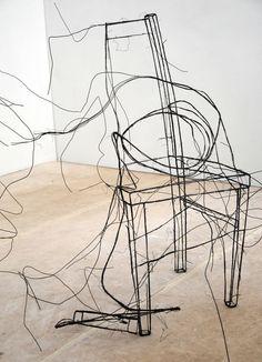 Diane Komater - wire sculptures
