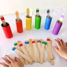 #okulöncesi #eşleştirme #materyal #renk #preschool #childrenactivty