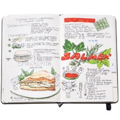 Recipe journal.