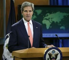 United States Secretary of State John Kerry and U.S. seeks accountability  for Syria gas attack, edges closer to military response. (08-26-13)