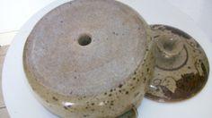 Veggie  cooking STEAMER  brown flower pottery or by NelandAda, $30.00