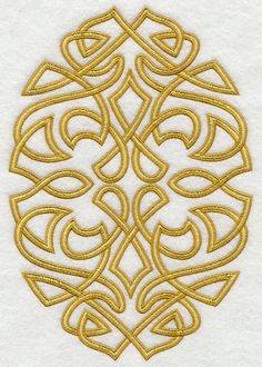 Celtic Knotwork Oval design (E3842) from www.Emblibrary.com