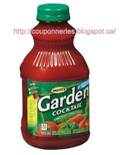Coupons et Circulaires: .99¢ GARDEN COCKTAIL Jus