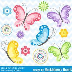 80% venta mariposa Imágenes Prediseñadas, mariposa Clip Art, imágenes prediseñadas de la primavera, mariposas Digital, flor Clipart