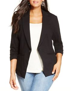 Plus Plus Ruched-Sleeve Blazer | Hudson's Bay
