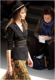 Jacket + belts; nice combo.  Carlos Miele