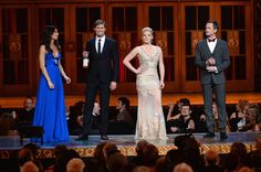 Laura Benanti, Andrew Rannells, Megan Hilty, and Neil Patrick Harris perform onstage at The 67th Annual Tony Awards at Radio City Music Hall on June 9, 2013 in New York City.
