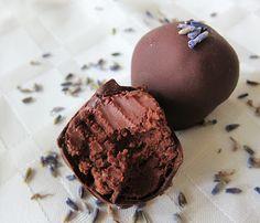 Vegan Dark Chocolate Lavender Gin Truffles