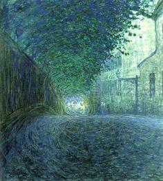 "allotherthingsintheworld: ""Al crepuscolo, 1902 Eugène Jansson (1862-1915) "" Eugène Fredrik Jansson (18 March 1862, Stockholm – 15 June 1915, Skara) was a Swedish painter known for his night-time land-..."