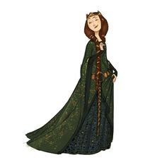 """If Queen Elinor's hair were unwrapped, it would be about 6'6"""" long."""