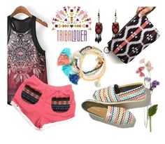 """""""Tribalover"""" by mahafromkailash ❤ liked on Polyvore featuring TOMS and tribalover"""