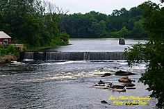 The Latta Falls in Latta ontario on the Moira river as seen from Scuttlehole Road