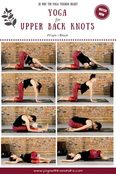 Do you suffer from upper back knots? Here are the best yoga poses to do to relieve tension in the upper body.