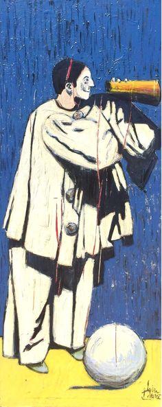 Pierrot Clown, Canvas, Painting, Art, Saatchi, Saatchi Art