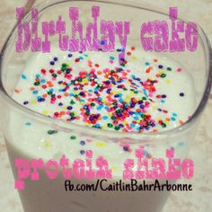 Another yummy #proteinshake #recipe adapted from #dashingdish!   #Birthday #Cake:  ♡ 1/2 cup low fat cottage cheese  ♡ 1 scoop #Arbonne vanilla protein powder  ♡ 1/2 tsp vanilla extract  ♡ few drops of almond extract  ♡ 1/2 cup almond milk  ♡ 10 ice cubes   #Sprinkles optional. But who doesn't like sprinkles?   #health #vegan #glutenfree #birthdaycake