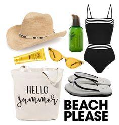 """Beach Please"" by mitchteryosa on Polyvore featuring Emma Pake, Treasure & Bond, Innisfree and Illesteva"