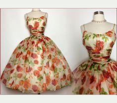 Vintage 1950s Dress//50s Party Dress//Saks Fifth by VintageDiva60