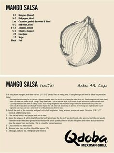 working at Qdoba, I've become addicted to the Mango Salsa. sadly, it's going away soon but here's the recipe so i can make it at home!