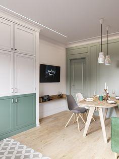 Cozy Scandinavian Style Home With Green Decor Ideas - Home Design Retro Home Decor, Home Decor Kitchen, Kitchen Interior, Diy Home Decor, Apartment Interior, Apartment Design, Scandinavian Style Home, Nordic Style, Diy Casa