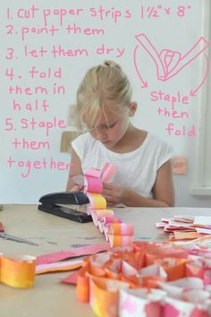 simple technique for making this fun and artsy heart paper chain