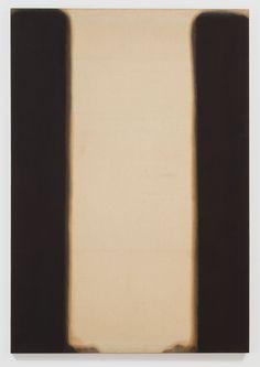 Yun Hyong-keun Umber-Blue, 1977 80 5/8 x 55 3/4 x 1 1/4 inches (204.8 x 141.6 x 3.2 cm)