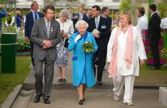 Pin for Later: The Chelsea Flower Show Was a Right Royal Family Day Out Queen Elizabeth II
