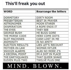 Mindblowing rearranging of words