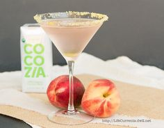 CocoZia coconut water for the Coconut Peach Frost Cocktail  |  Life Currents  #beverage #drink #cocktail