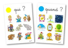 Qui ? Quand ? Quoi ? Où ? Libra, French Basics, Autism Activities, French Immersion, Parts Of Speech, Activity Games, Idioms, After School, Speech Therapy