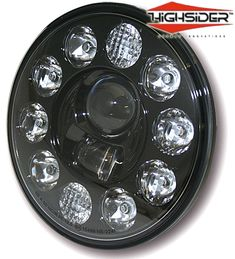 "Highsider 7"" LED Motorcycle Headlight Lens Insert"