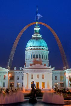 St. Louis Arch....A great city....the arch, the Dred Scott Building and fabulous fountains!  Love this city!