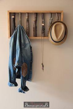 Вешалка из ствола своими руками, вешалка из ветки своими руками, идеи вешалки из ствола для дома (3)