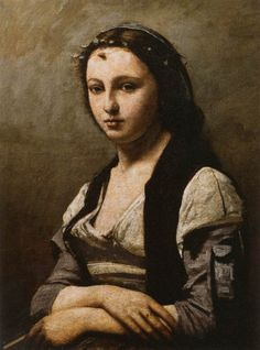 Jean-Baptiste-Camille Corot - The Woman with the Pearl
