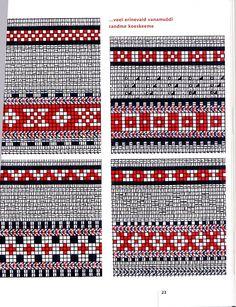 Kihnu kinda ranne Fingerless Mittens, Knit Mittens, Knitted Gloves, Knitting Stitches, Hand Knitting, Knitting Patterns, Filet Crochet, Knit Crochet, Tapestry Crochet Patterns