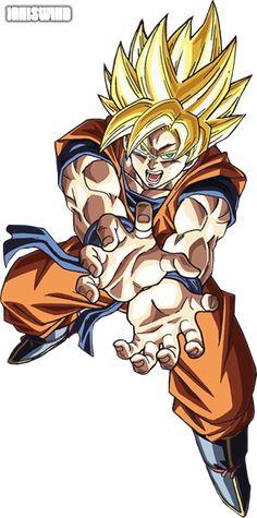 Goku Super Saiyan Kamehameha - Render by IgnisWind