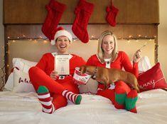 Christmas pregnancy announcement!                                                                                                                                                                                 More