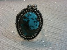 Native American Turquoise Ring in Sterling by TracyBDesignsAZ, $119.00