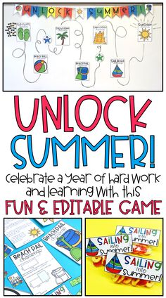 Celebrate the end of a great school year with the most fun and engaging game of the year!  Unlock Summer is editable, rigorous and perfect for any subject in any grade level!
