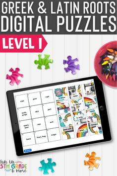 Review some of the most common Greek & Latin Roots in a fun & engaging way with these DIGITAL puzzles! Works on any device with internet connection. This vocabulary activity is no prep and self checking. Perfect to use for independent or partner work, early finishers, or even during distance learning.