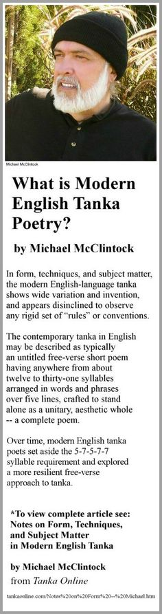 What is Modern English Tanka Poetry? by Michael McClintock.