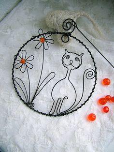 Mačka s kvetmi / ZUDOS - SAShE.sk - Handmade Dekorácie
