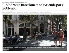 El síndrome Barceloneta se extiende por el Poblenou / @LaVanguardia | #socialtravel #socialcities