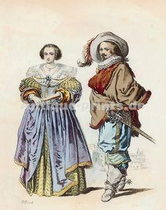 Noblesse Lorraine, Règne De Louis XIII, d´après Jacques Callot, 1625 17th Century Clothing, 17th Century Fashion, Milady De Winter, Jacques Callot, Renaissance, Tudor, Luis Xiv, Merian, Evolution Of Fashion