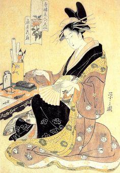 Hishikawa Moronobu (1618-1694)  c.1680: The Fourth Scene, from the series Scenes of the Pleasure Quarter at Yoshiwara in Edo Monochrome woodblock print; ink on paper - 10 1/2 x 16 1/4 in. (26.7 x 41.3 cm)